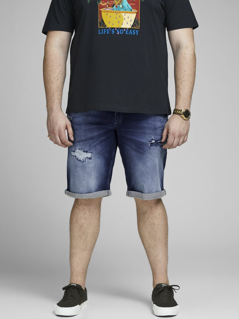 Jack & Jones - Denim shorts - blue denim