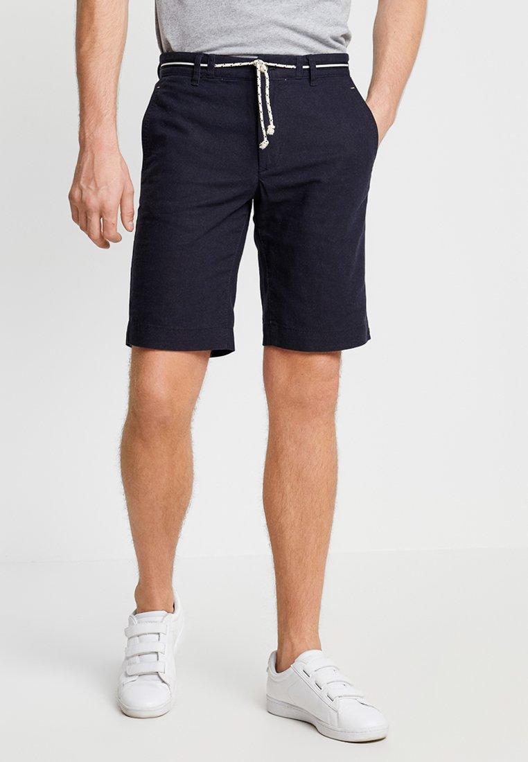 Jack & Jones - CHINOSHORTS LEINEN - Shorts - navy
