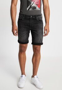 Jack & Jones - JJIRICK JJORIGINAL - Jeansshort - black - 0