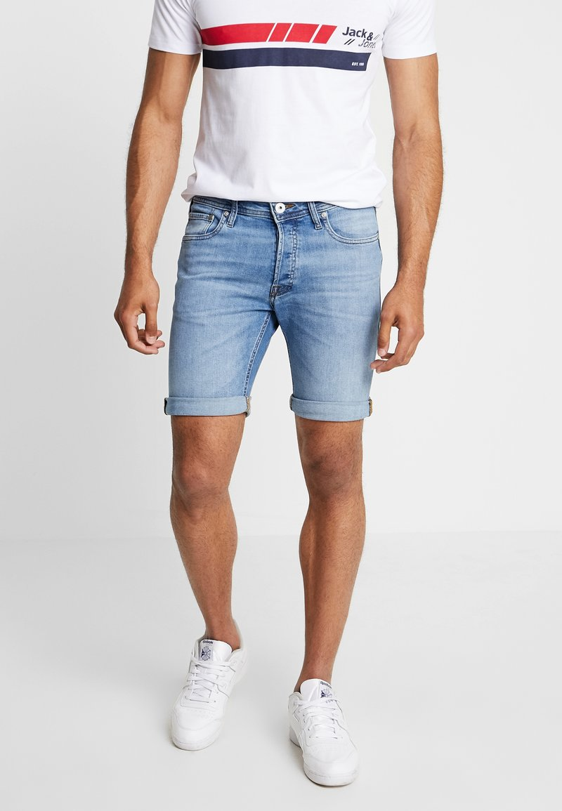 Jack & Jones - JJIRICK JJORIGINAL - Shorts vaqueros - blue denim