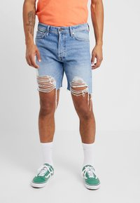 Jack & Jones - JJICHRIS JJORIGINAL - Jeansshort - blue denim - 0