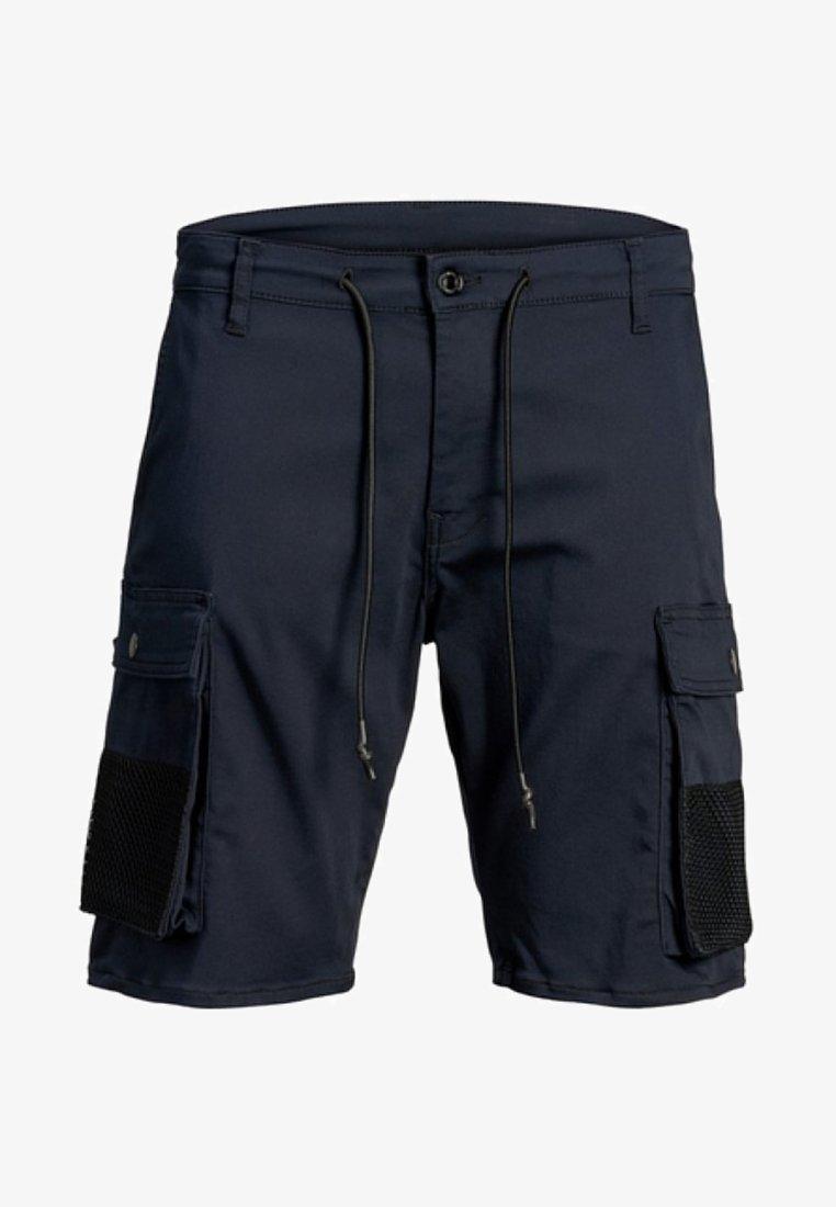 Jack & Jones - HARVEY LONG - Shorts - blue denim