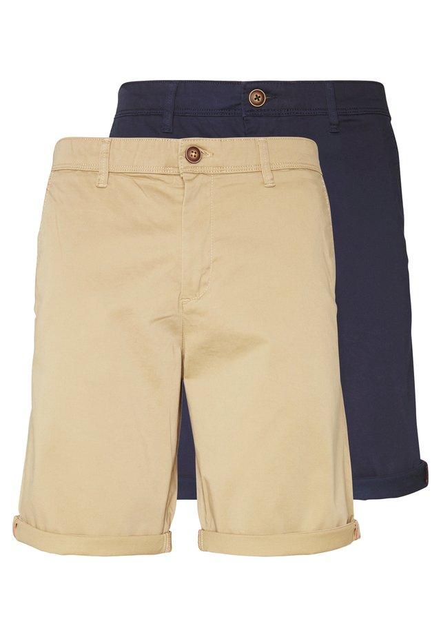 JJIBOWIE 2PACK - Shorts - navy blazer/beige
