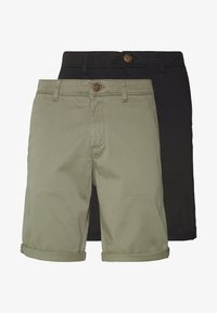 Jack & Jones - JJIBOWIE 2PACK - Shorts - black/dusty olive - 5