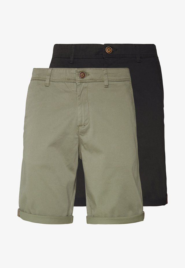 JJIBOWIE 2PACK - Shorts - black/dusty olive