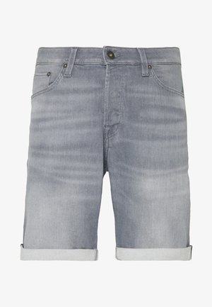 JJIRICK JJICON - Farkkushortsit - grey denim