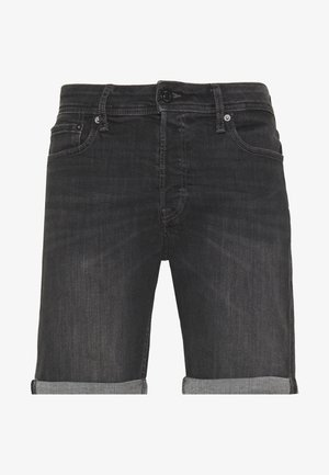 JJIRICK JJORIGINAL  - Denim shorts - black denim