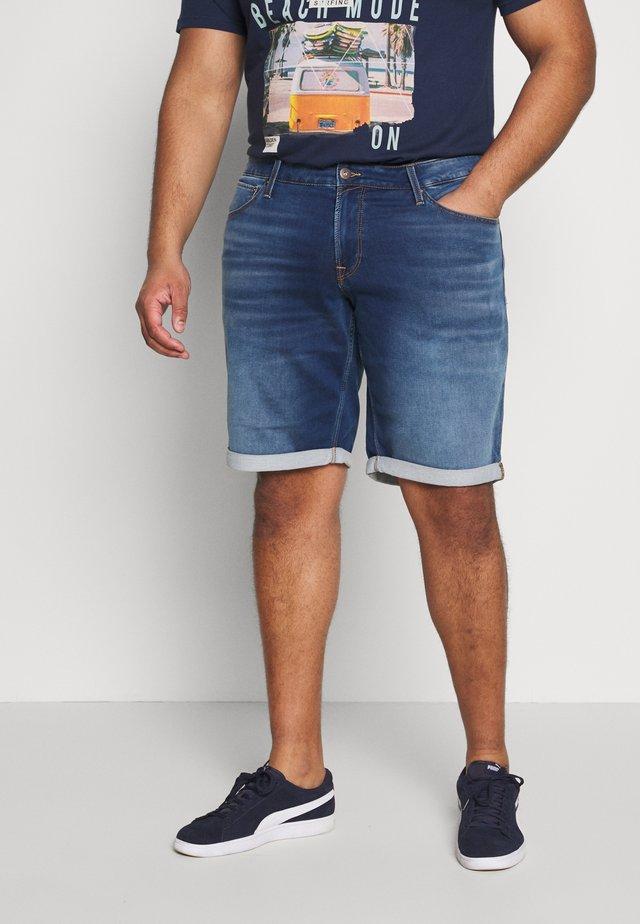 JJIRICK JJICON - Szorty jeansowe - blue denim