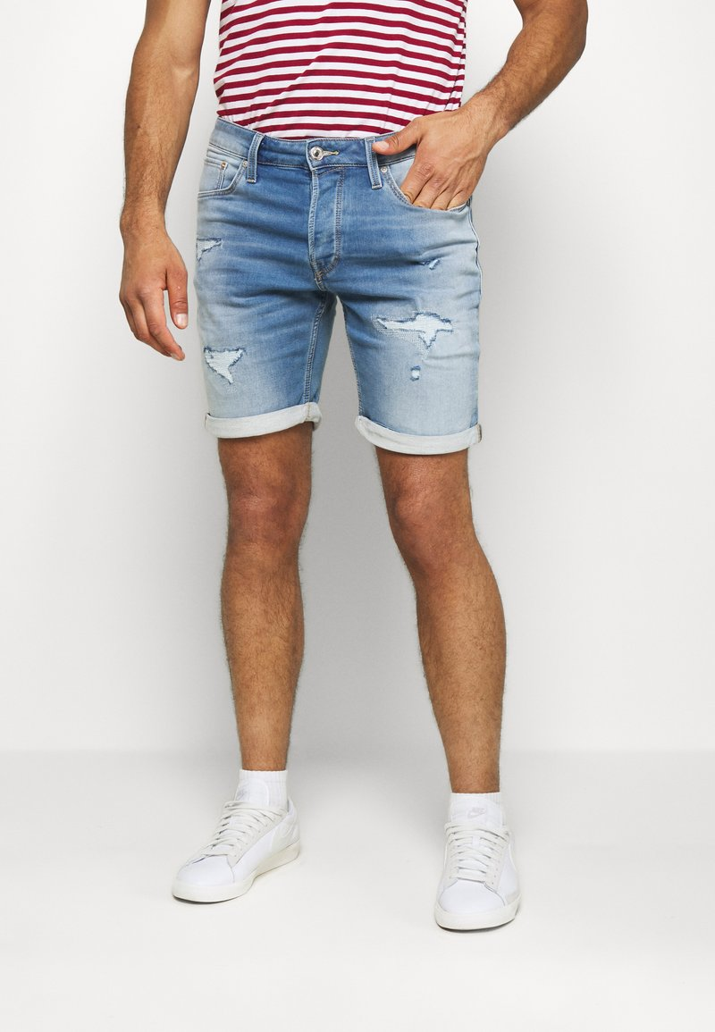 Jack & Jones - JJIRICK JJICON - Shorts vaqueros - blue denim