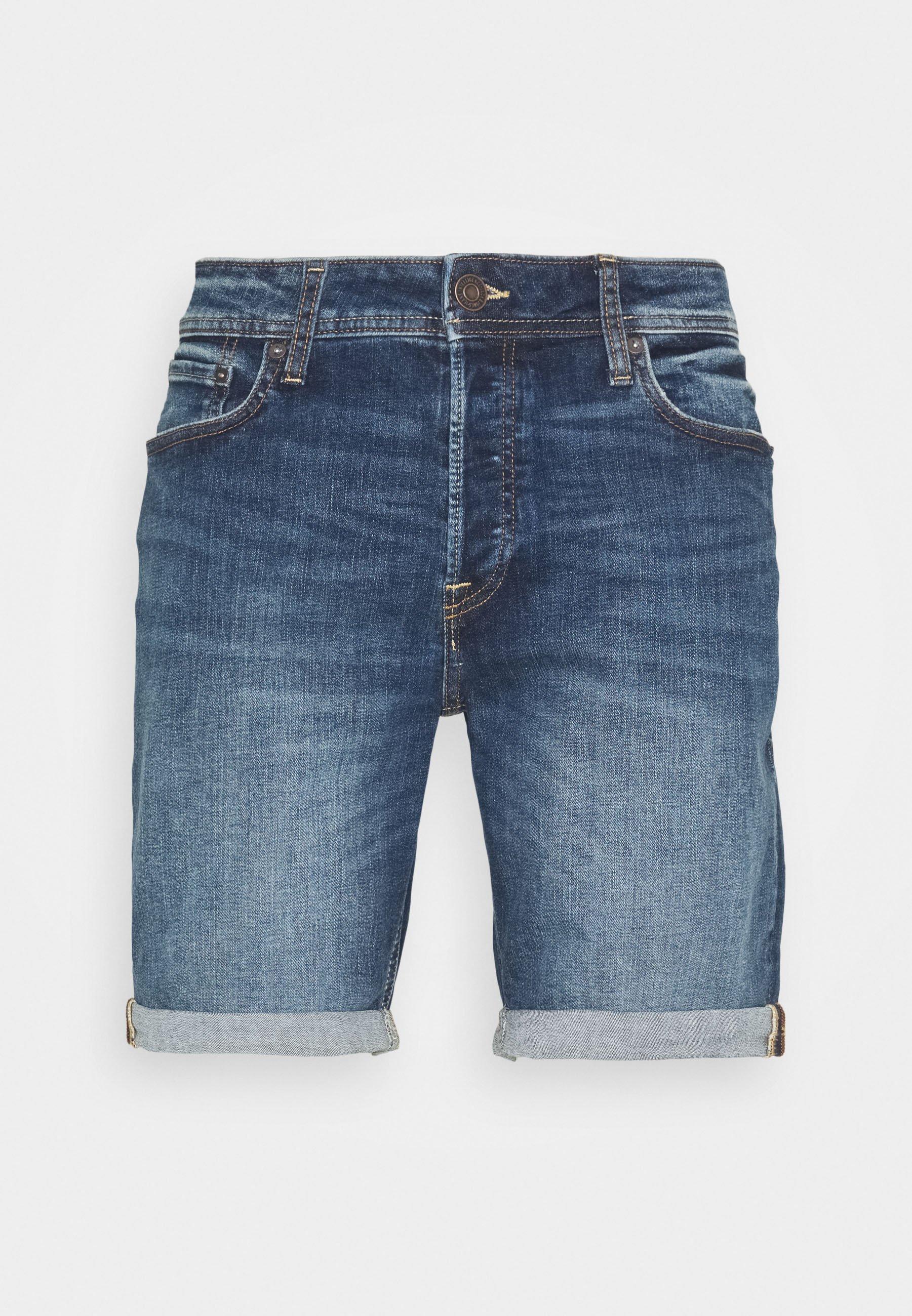 JJIRICK JJORIGINAL Shorts vaqueros blue denim