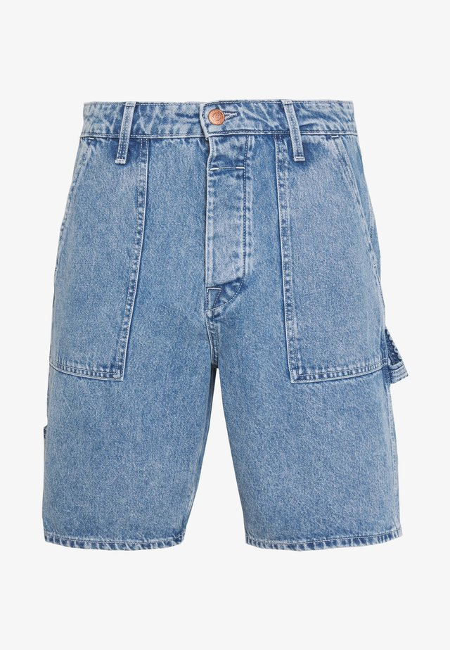 JJITONY JJUTILITY - Shorts di jeans - blue denim