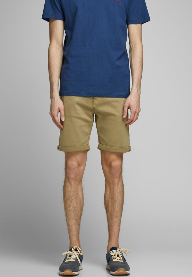 Denim shorts - brown