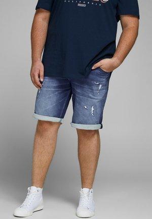 RICK ICON - Denim shorts - blue denim