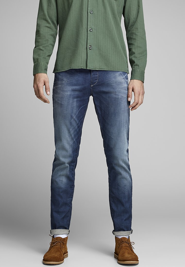 Jack & Jones - TIM ORIGINAL JOS 919 - Slim fit jeans - medium blue denim