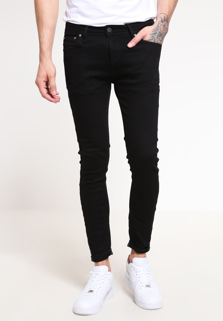 Jack & Jones - JJILIAM  - Slim fit -farkut - black denim