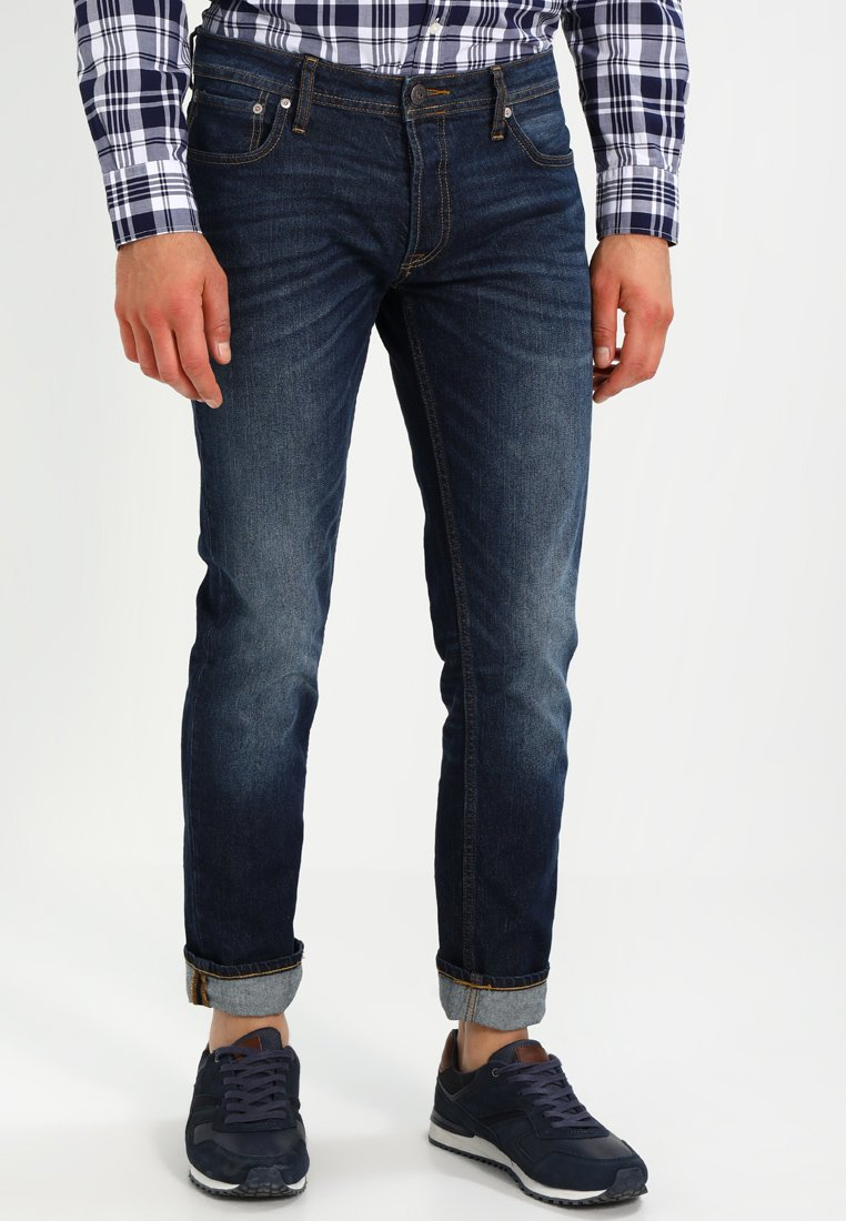 Jack & Jones - JJITIM JJORIGINAL - Slim fit jeans - dark blue denim