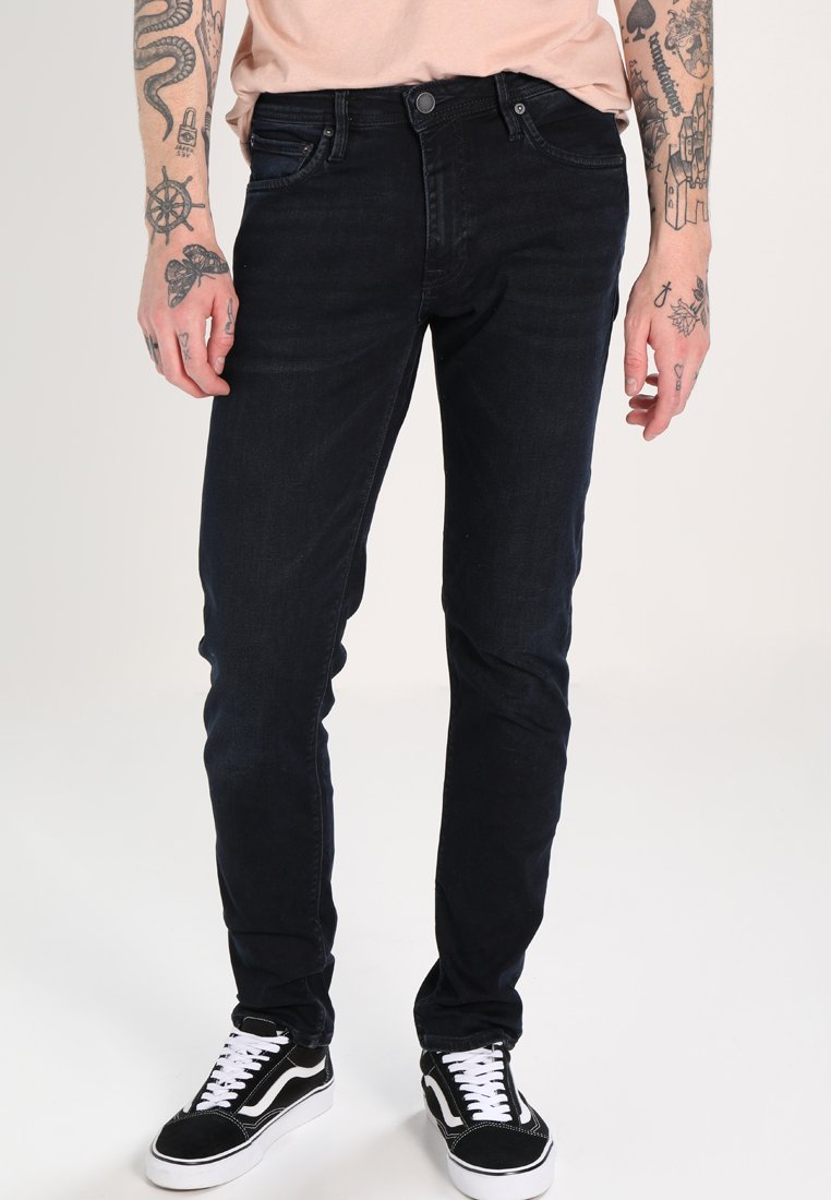 Jack & Jones - JJIGLENN FELIX  - Straight leg jeans - black