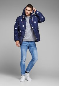 Jack & Jones - TIM ORIGINAL  - Slim fit jeans - blue denim - 1