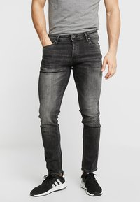 Jack & Jones - JJIGLENN JJORIGINAL - Vaqueros slim fit - black denim - 0