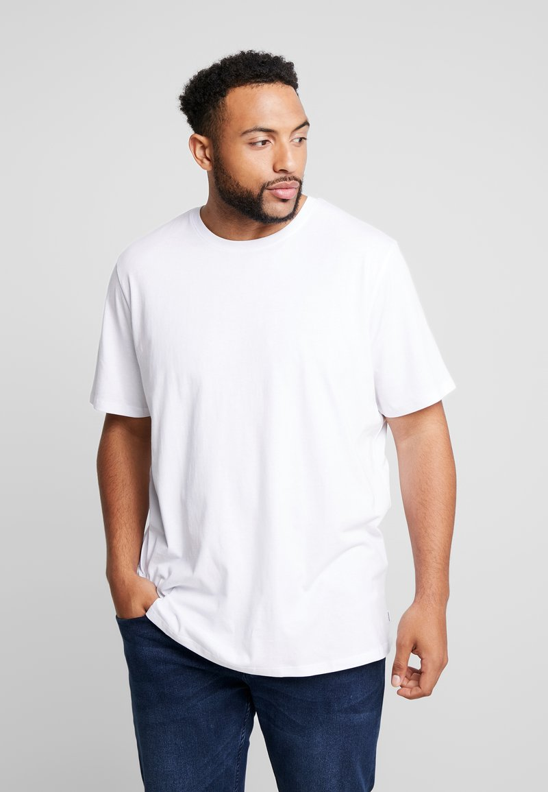 Jack & Jones - BASIC NECK NOOS - T-paita - white