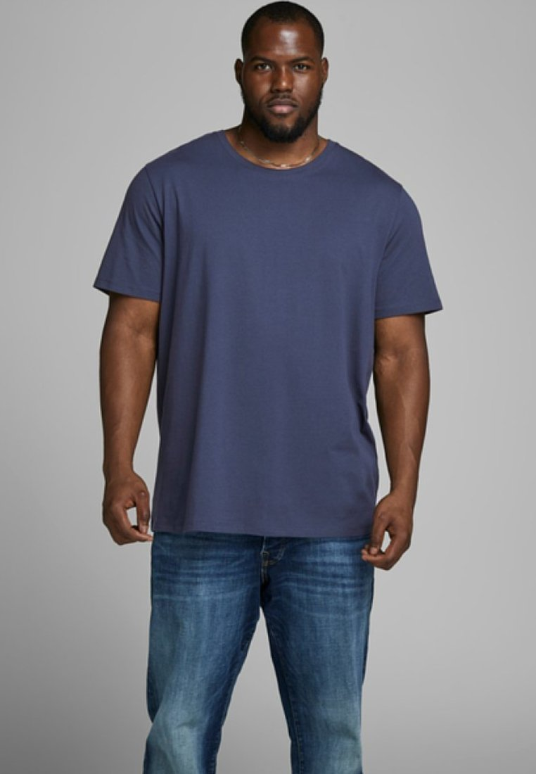 Jack & Jones - JJEORGANIC BASIC TEE NECK NOOS - Camiseta básica - navy