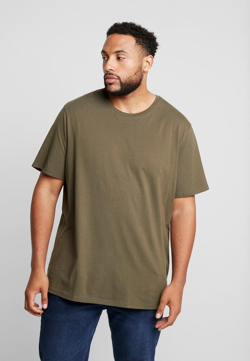 Jack & Jones - JJEORGANIC BASIC TEE NECK NOOS - T-Shirt basic - olive night