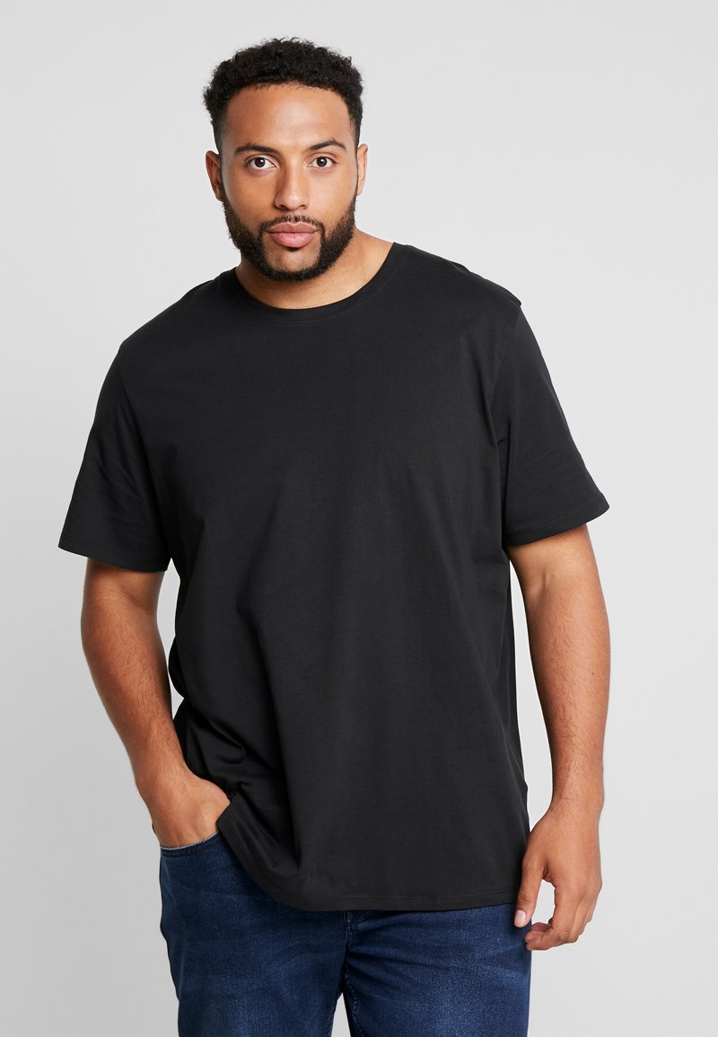 Jack & Jones - JJEORGANIC BASIC TEE NECK NOOS - T-shirts basic - black