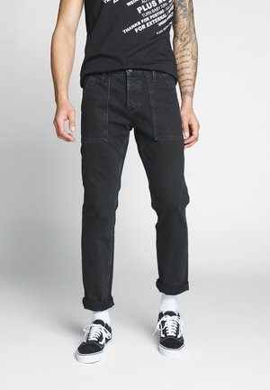 JJIMIKE JJUTILITY  - Straight leg jeans - black denim