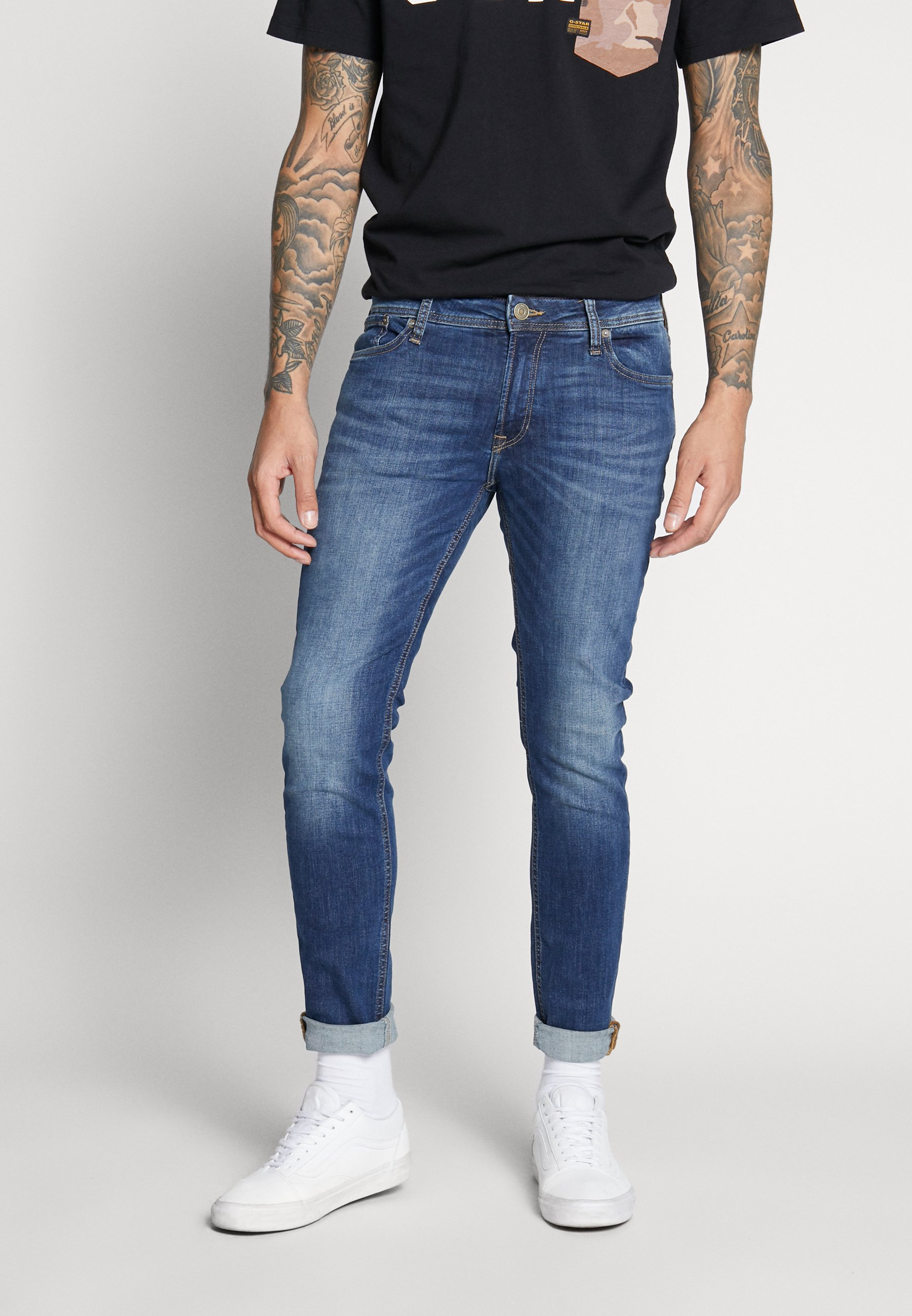 Jack & Jones JJILIAM JJORIGINAL - Jeansy Skinny Fit - blue denim