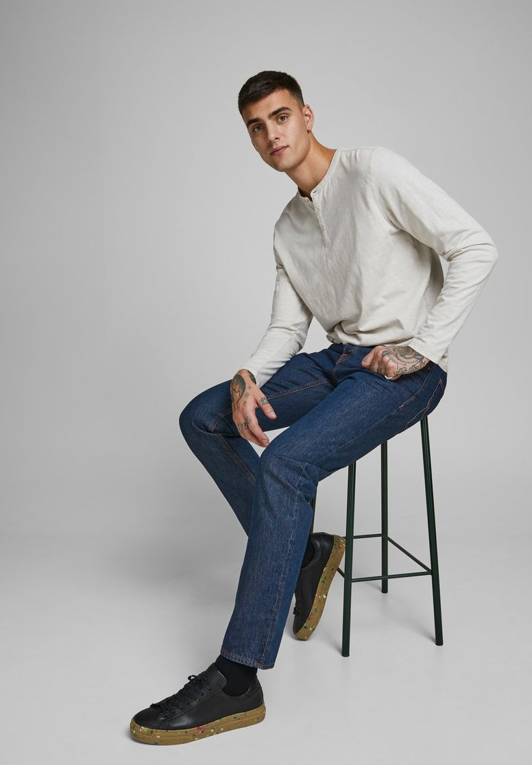 Jack & Jones Mike Original Am - Jeans Straight Leg Blue Denim