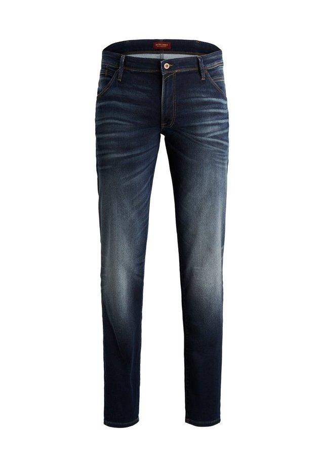 GLENN FOX  - Slim fit jeans - dark blue denim