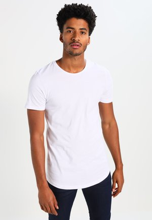 JJPRHUGO TEE CREW NECK  - T-shirt - bas - white