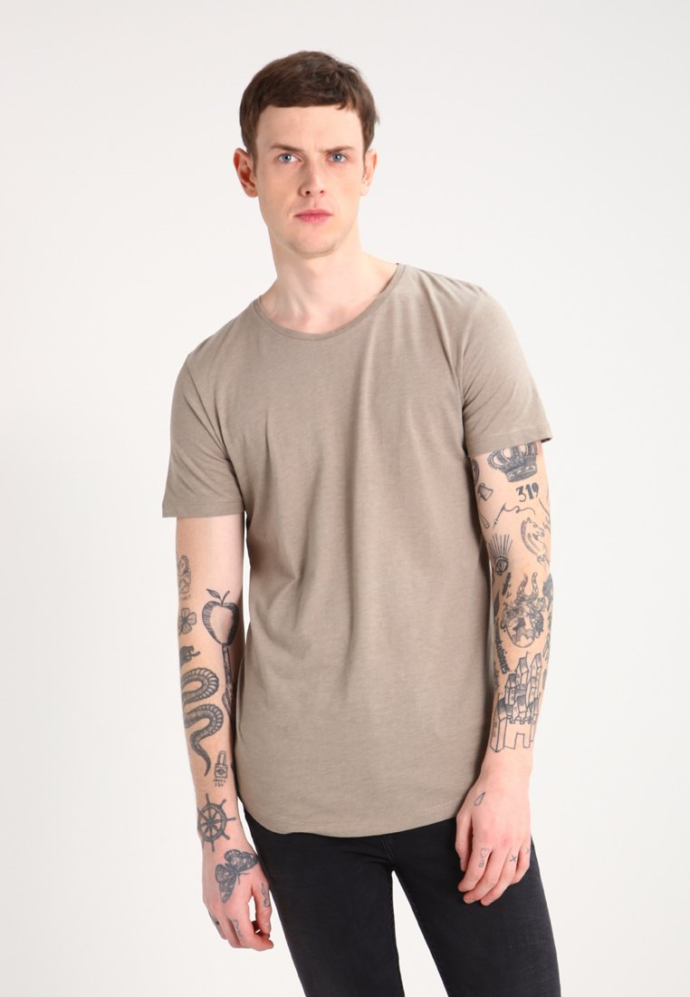 Jack & Jones - JJPRHUGO TEE CREW NECK  - T-Shirt basic - brindle