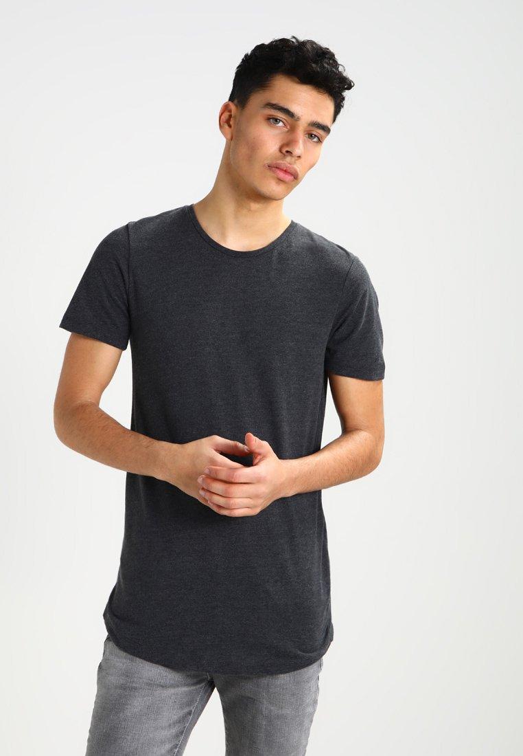 Jack & Jones - JJPRHUGO TEE CREW NECK  - T-Shirt basic - dark grey melange