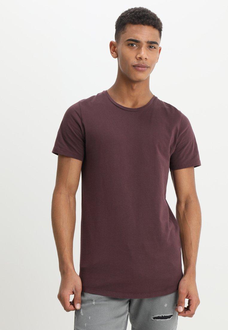 Jack & Jones - JJPRHUGO TEE CREW NECK  - T-shirt basique - dark red