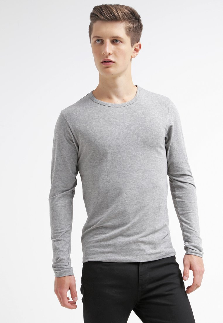 Jack & Jones - JJBASIC  - Long sleeved top - light grey