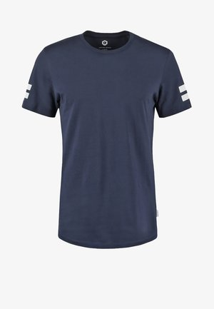 JCOBORO CREW NECK SLIM FIT  - T-shirt med print - navy blazer