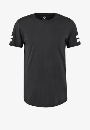 JCOBORO CREW NECK SLIM FIT  - Print T-shirt - black
