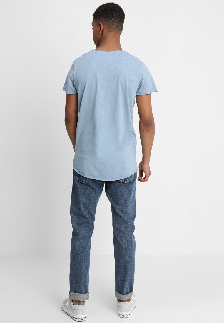 Essentials FitT Jones Denim shirt Basique Tee Regular Jjebas Neck Jackamp; Faded gb76fy