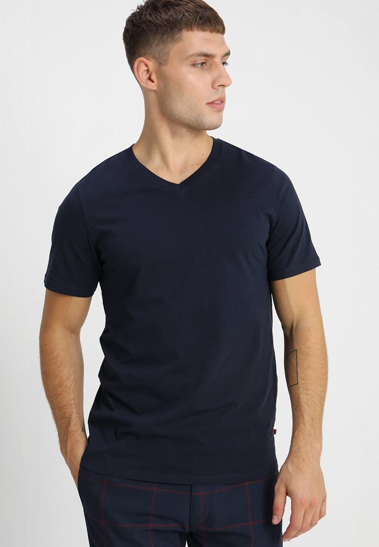 Jack & Jones - JJEPLAIN  - Basic T-shirt - navy blazer