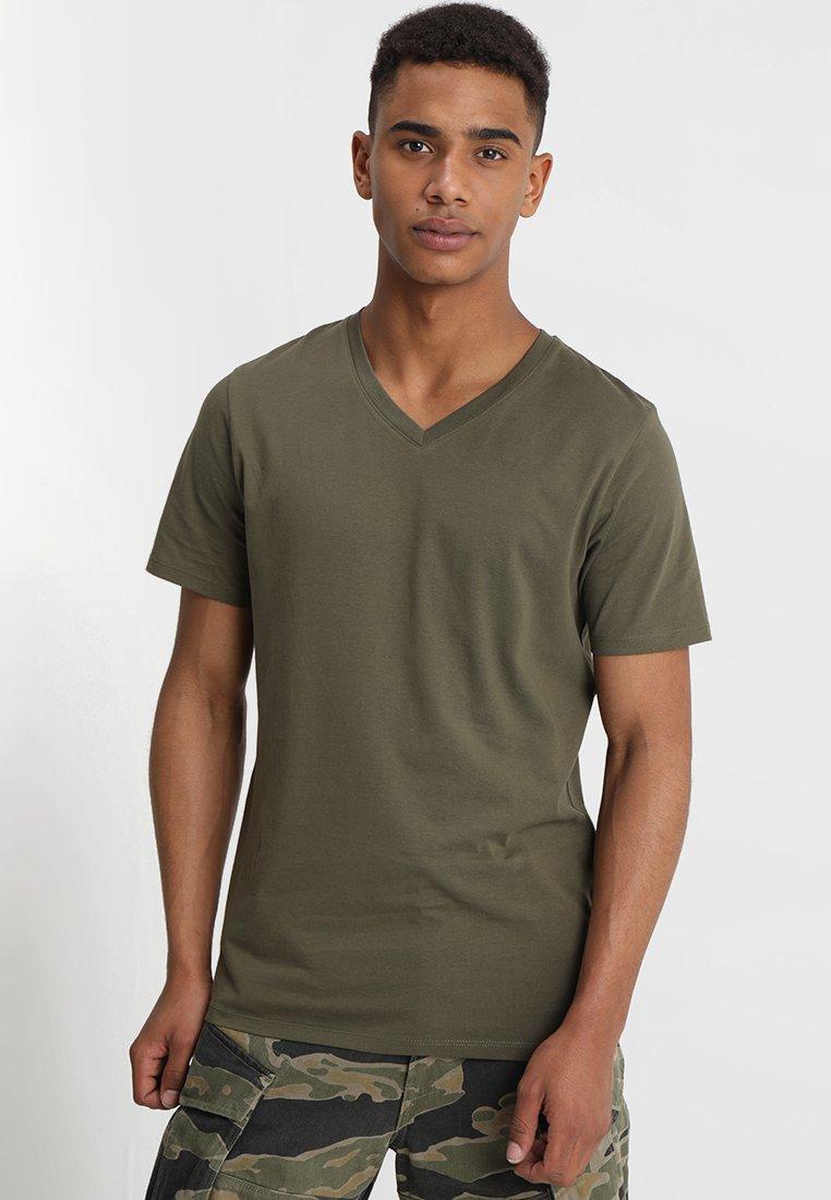 Jack & Jones - JJEPLAIN  - T-Shirt basic - olive night