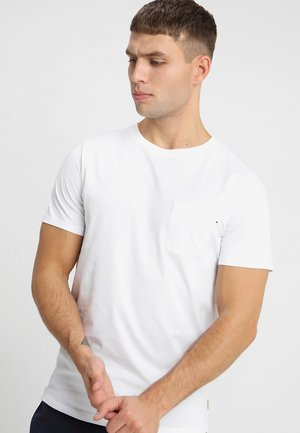 JJEPOCKET TEE SS O-NECK - T-paita - white
