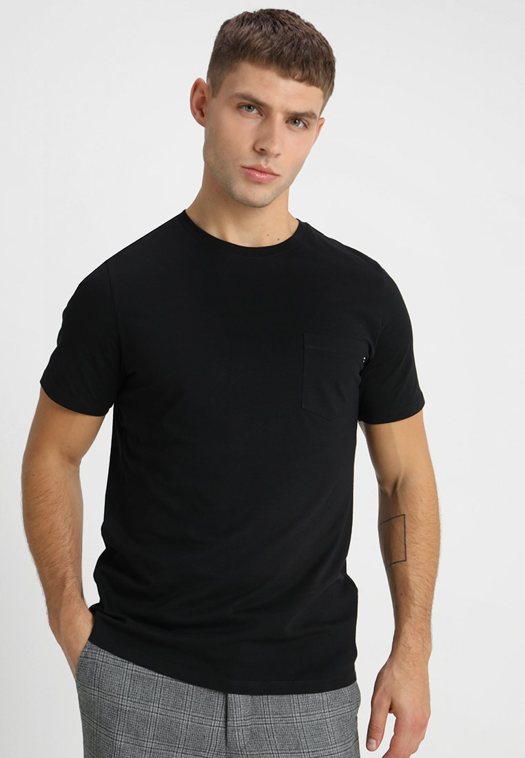 Jack & Jones - JJEPOCKET TEE O-NECK ESSENTIALS - Basic T-shirt - black
