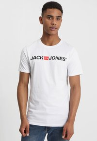 Jack & Jones - JJECORP LOGO CREW NECK  - Print T-shirt - white - 0