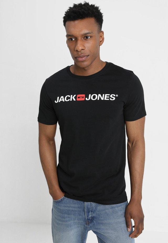 JJECORP LOGO CREW NECK  - Print T-shirt - black