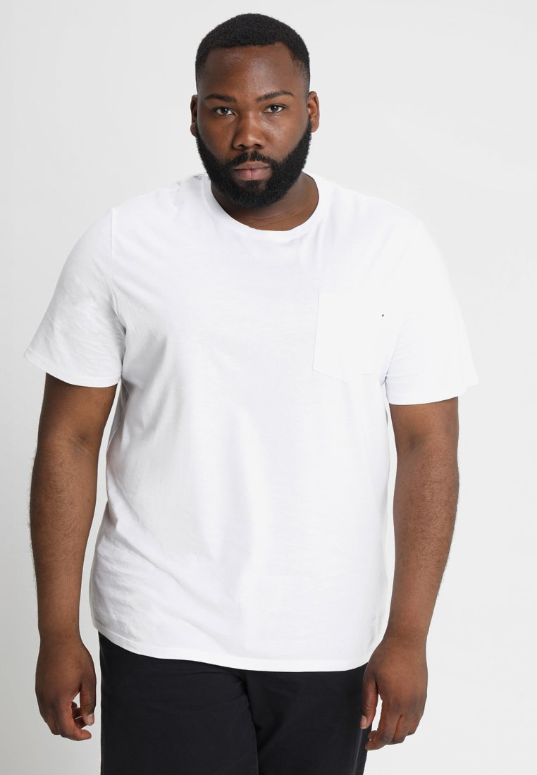 Jack & Jones JJEPOCKET - T-shirt basic - white