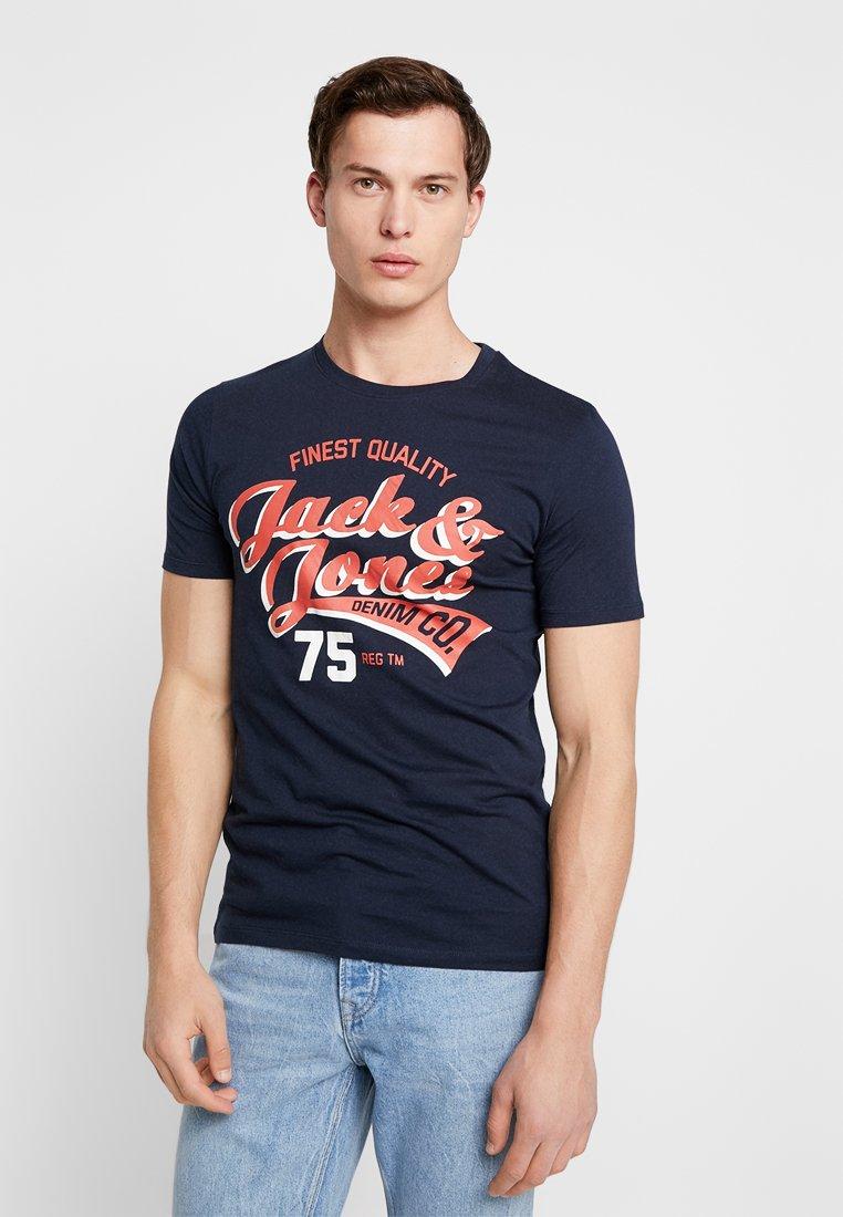 Jack & Jones - JJELOGO TEE CREW NECK NOOS - T-Shirt print - dark blue