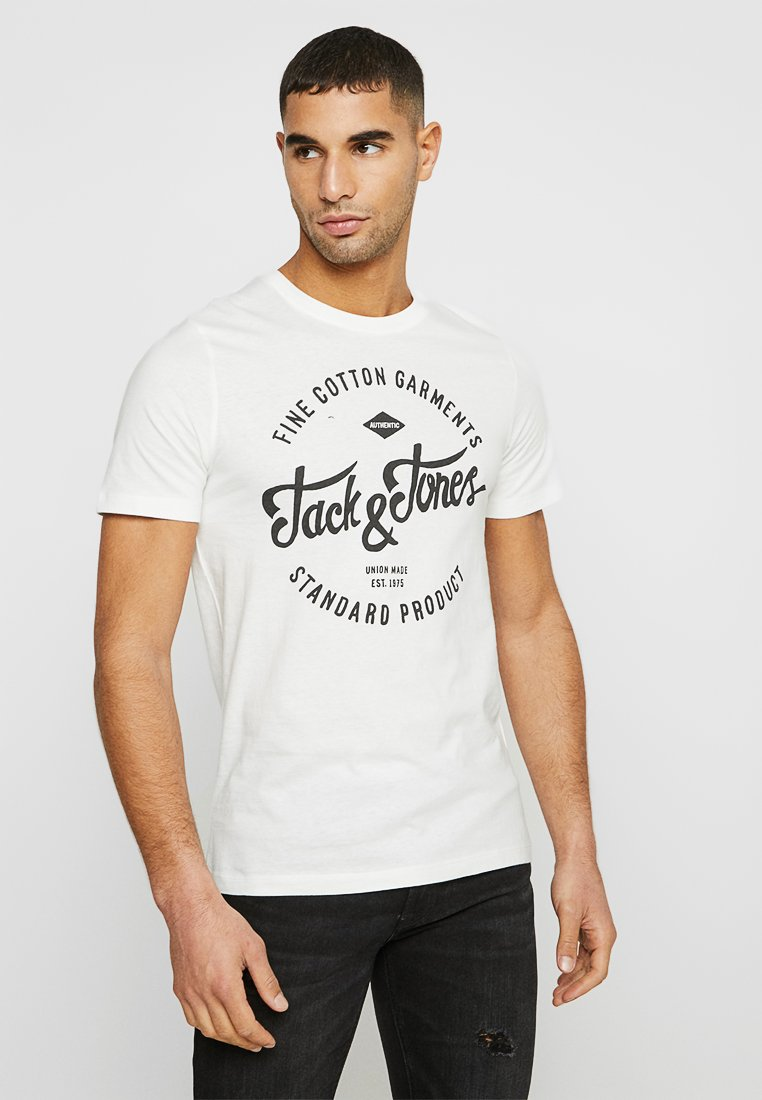 Jack & Jones - JJERAFA - T-Shirt print - cloud dancer