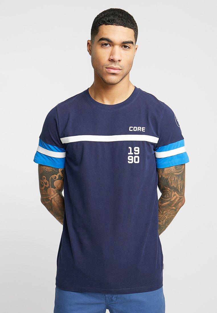 Jack & Jones - JCOLEROY TEE CREW NECK - T-Shirt print - maritime blue