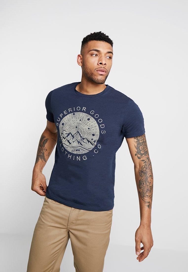 Jack & Jones - JORJAPAN TEE CREW NECK - T-Shirt print - total eclipse